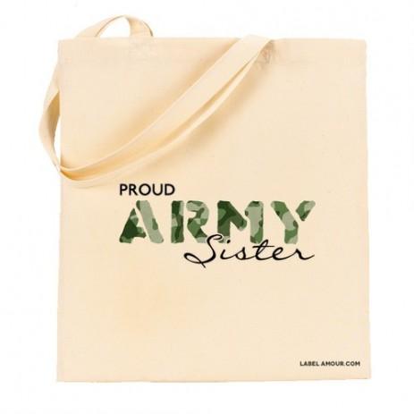 Proud Army Sister Tote Bag
