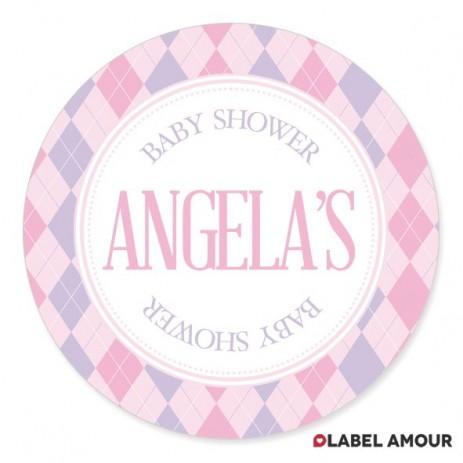 Aubree Baby Shower Label