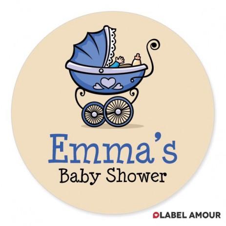 Brayden Baby Shower Label