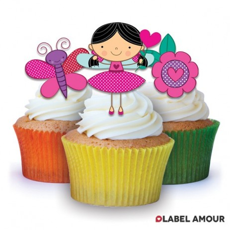 Fairy Butterfly Edible Tinker Toppers