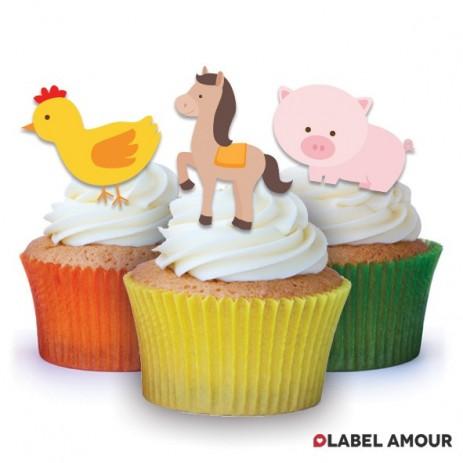 Farmyard Animals Edible Tinker Toppers