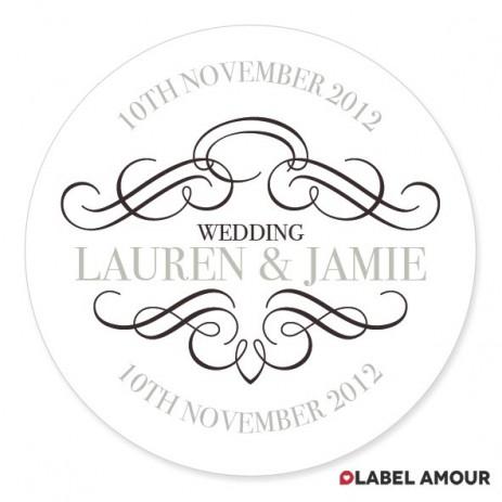 Harding Wedding Label