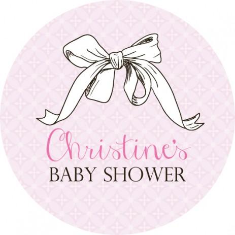 Josy Baby Shower Label
