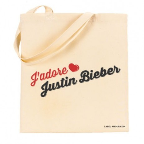 J'Adore Justin Bieber Tote Bag