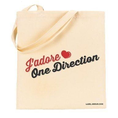 J'Adore One Direction Tote Bag