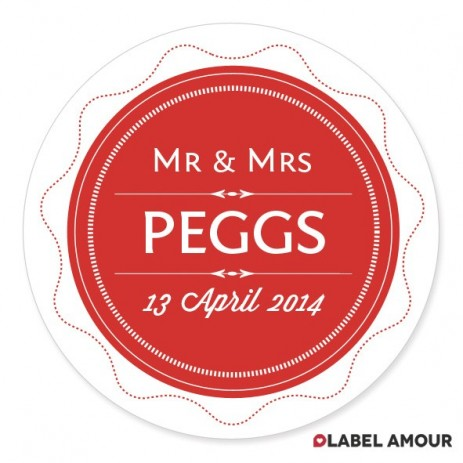 Page Wedding Label