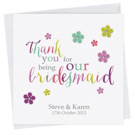 Penny Thank You Bridesmaid Card