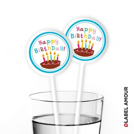 Solomon Birthday Cocktail Stirrers