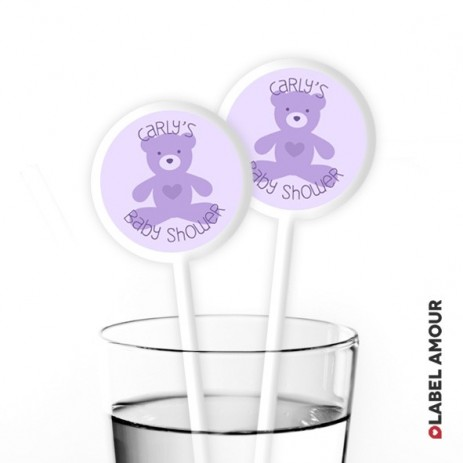 Woods Baby Shower Cocktail Stirrers