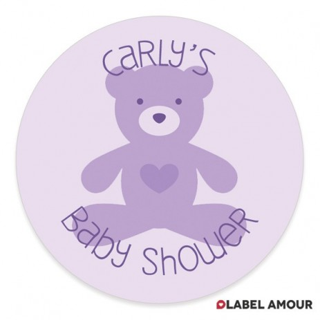 Woods Baby Shower Label