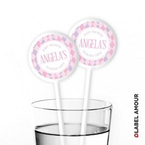 Aubree Baby Shower Cocktail Stirrers