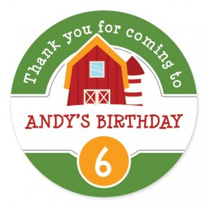 Barnyard Birthday Label