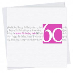 Belle Happy Birthday Age Card