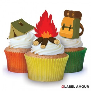 Camping Birthday Edible Tinker Toppers
