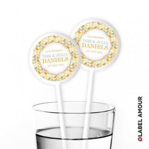 Charlotte Wedding Cocktail Stirrers