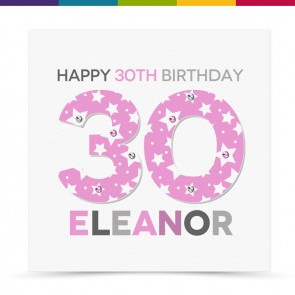 Elnora Happy Birthday Age Card