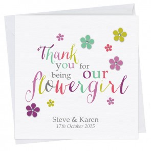 Kate Thank You Flower Girl I Card