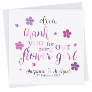 Kate Thank You Flower Girl II Card