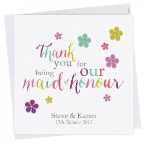 Kate Thank You Maid of Honour Card