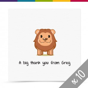 Leo Thank You Card Pack