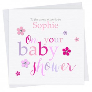 Olivette Baby Shower Girl Card