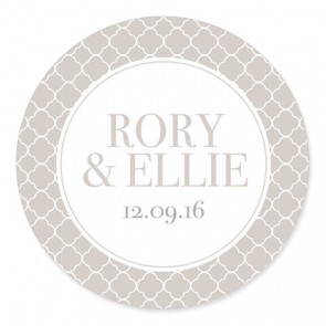 Quatrefoil 1 Wedding Label