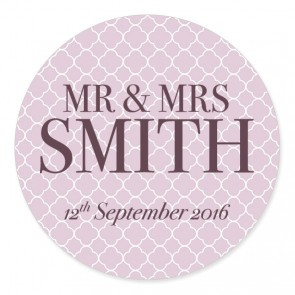 Quatrefoil 2 Wedding Label