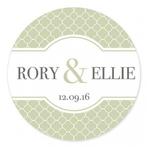 Quatrefoil 3 Wedding Label