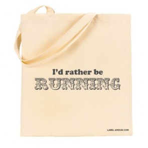 I'd Rather Be Running Tote Bag