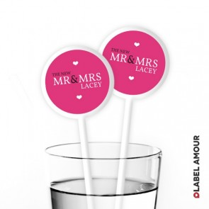 Sandison Wedding Cocktail Stirrers