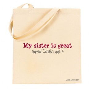 Sister Is Great Tote Bag