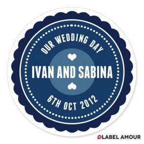 Swain Wedding Label