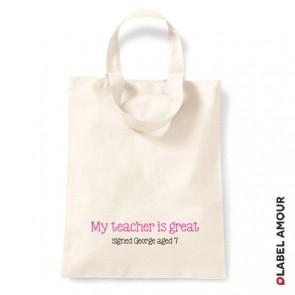 My Teacher Is Great School Tote Bag