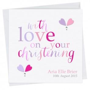 Vivia Christening Card