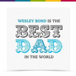 Wesley Best Dad Card
